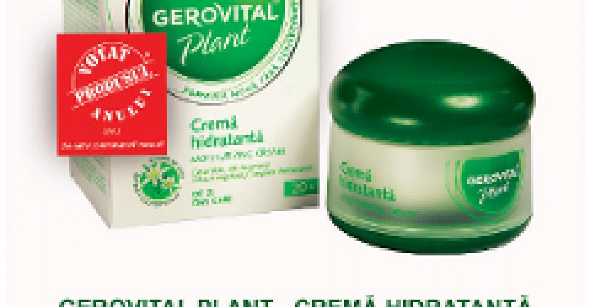 Gerovital Plant Crema Hidratanta este Produsul Anului 2011 in Romania