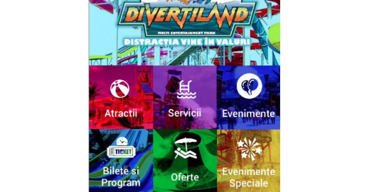 Divertiland, primul parc de distractii din Romania cu aplicatie mobila