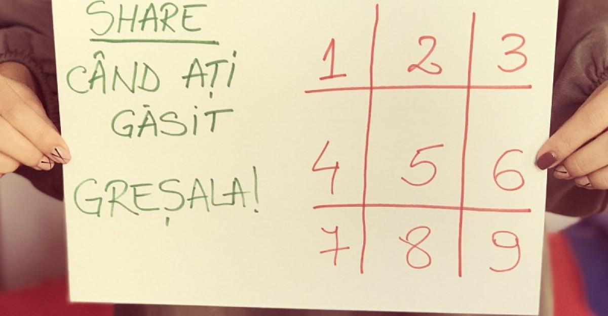 Cel mai inselator puzzle! Ti-ai dat seama unde este greseala?