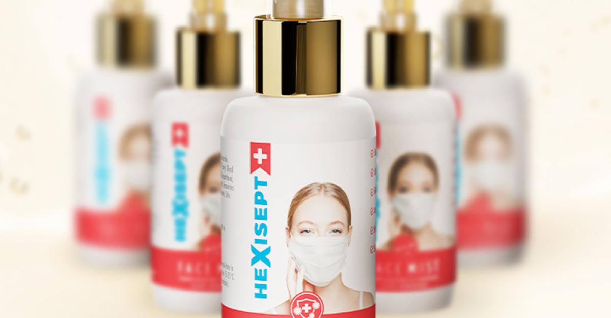 Hexisept + Face Mist, ten frumos chiar și cu mască