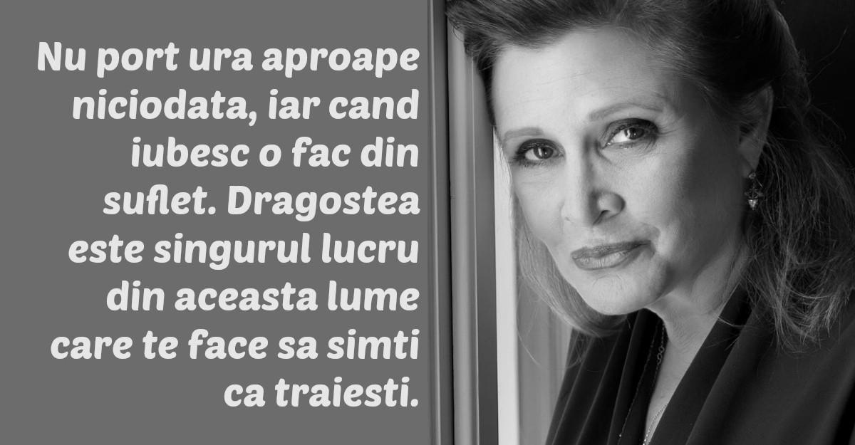 Cele mai frumoase citate ale lui Carrie Fisher