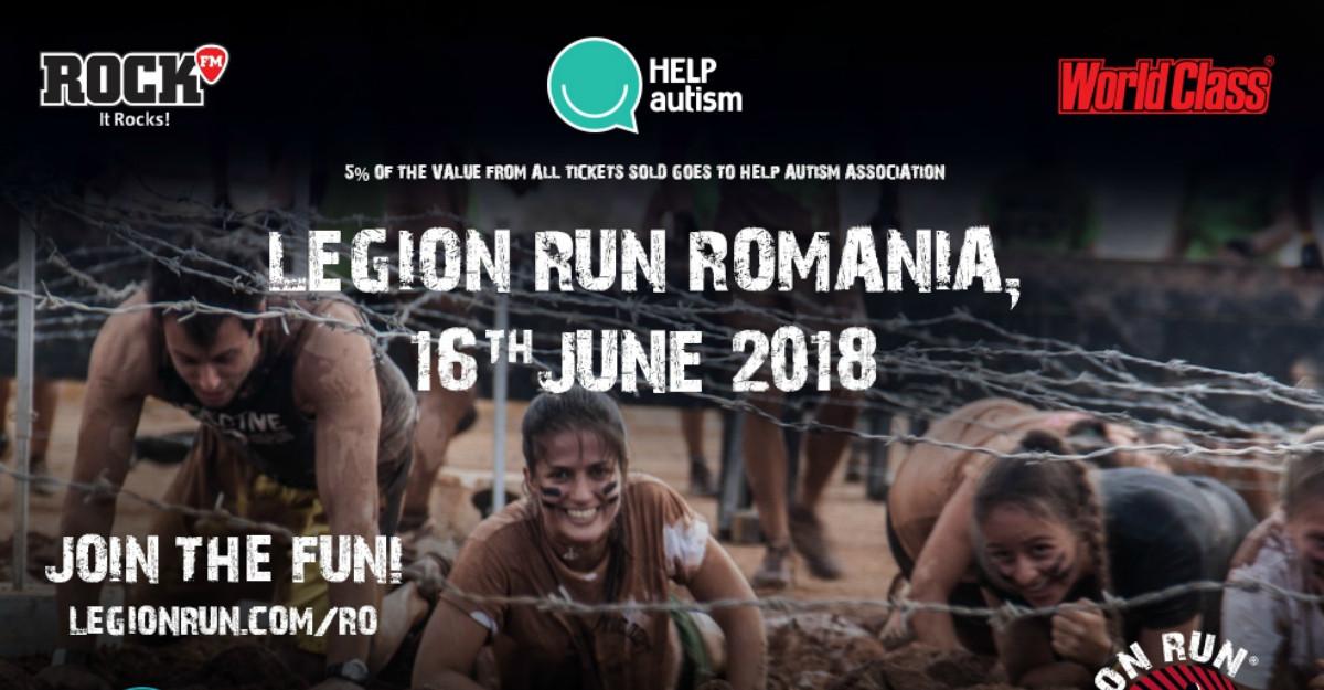 Ajută copiii cu autism participând la Legion Run