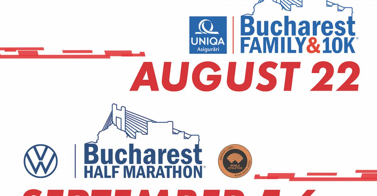Noile date de desfasurare ale Bucharest FAMILY & 10K și Bucharest HALF MARATHON 2020