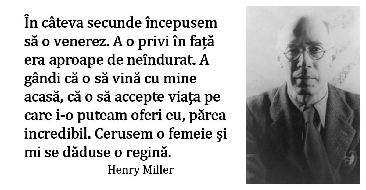 Alfabetul dragostei. Cele mai frumoase citate de iubire dupa Henry Miller