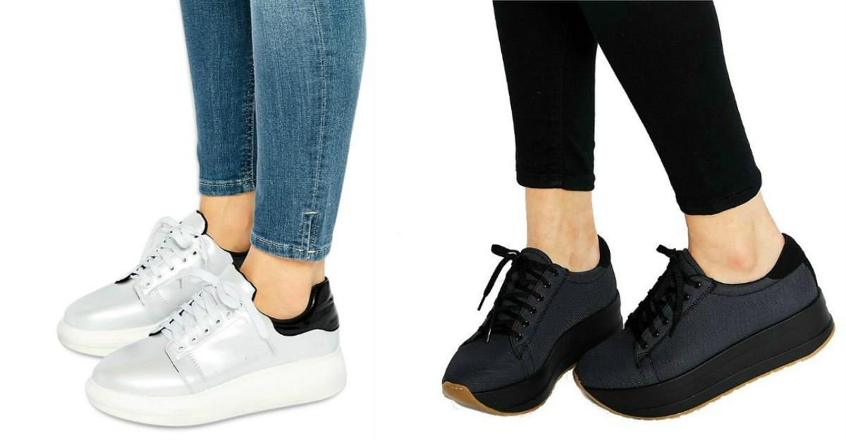 Modele de pantofi sport cu talpa groasa, pentru plimbari interminabile