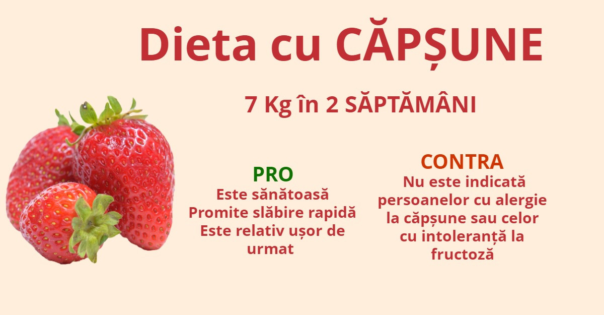 Dieta cu CAPSUNE - 7 Kg in 2 SAPTAMANI