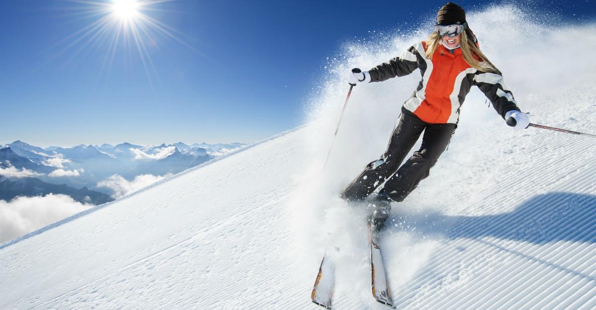 Echipamente de ski pentru femeile cochete