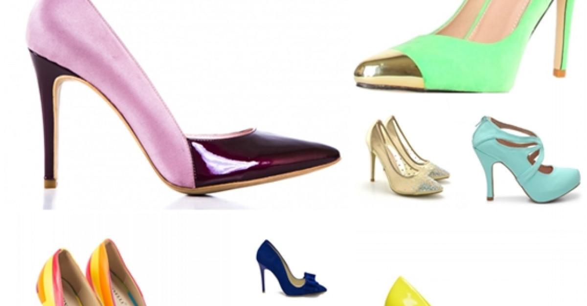 15 perechi de pantofi in culori electrizante