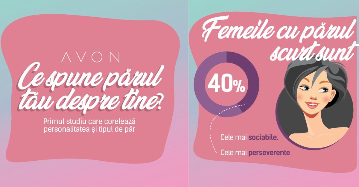 AVON lansează primul studiu care corelează tipul de păr cu trăsături de personalitate ale femeilor