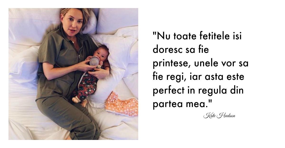 Kate Hudson, mesaj pentru toți părinții: Nu toate fetele isi doresc sa fie printese
