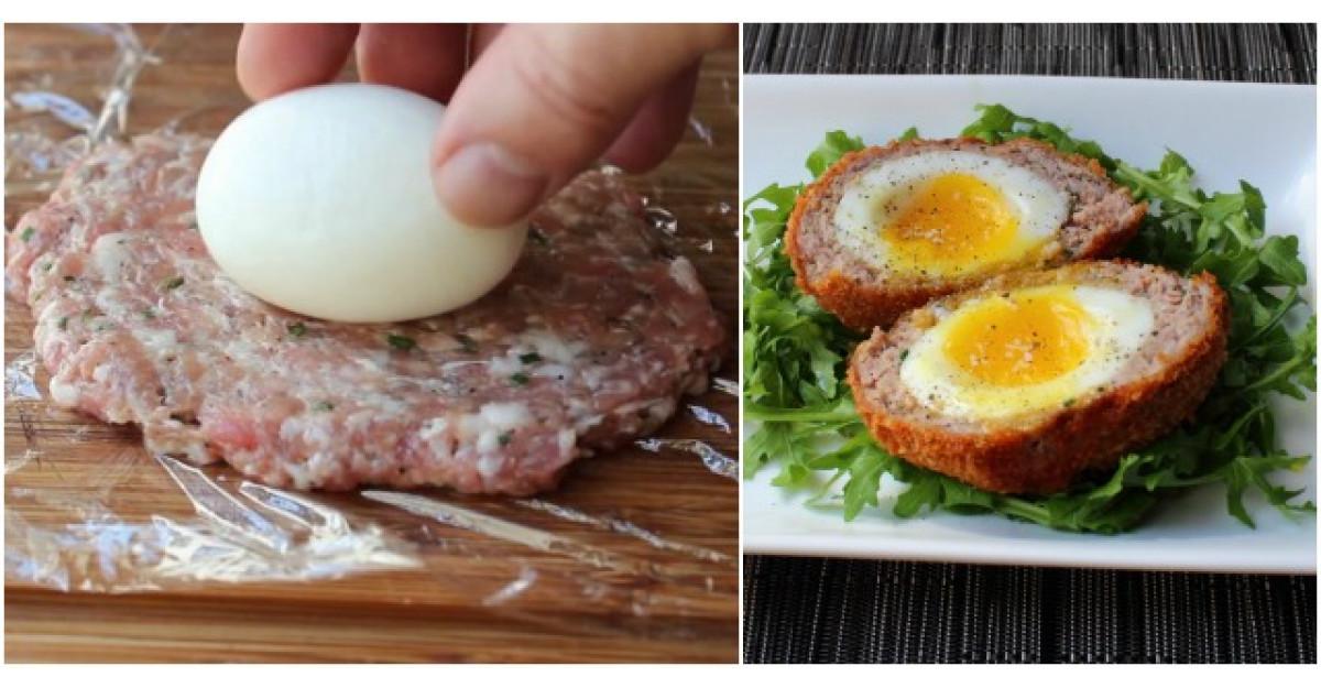 Video: Pune oul fiert peste carnea tocata. Nu ai mancat niciodata ceva mai bun