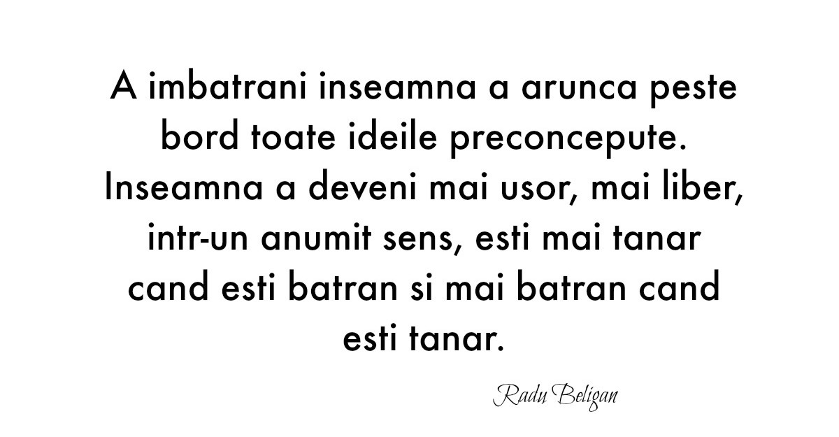 Alfabetul dragostei: Cele mai frumoase citate despre iubire dupa Radu Beligan