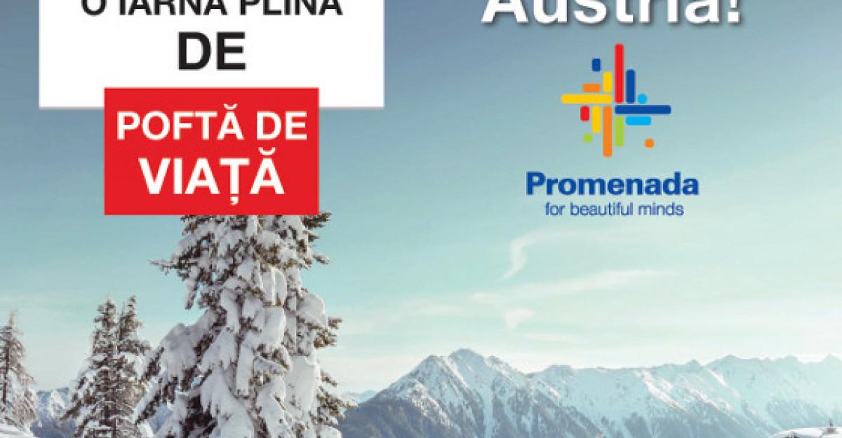 La o promenada pe schiuri in Alpii Austrieci