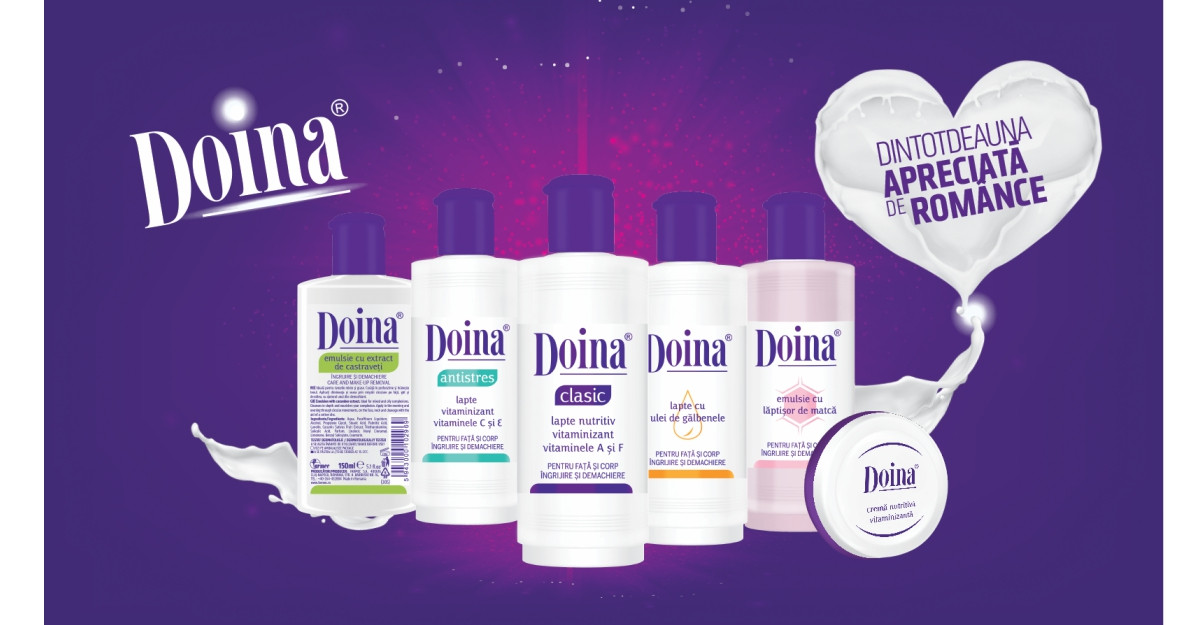 Farmec dezvoltă brandul Doina cu noi ambalaje și îl extinde cu un nou produs