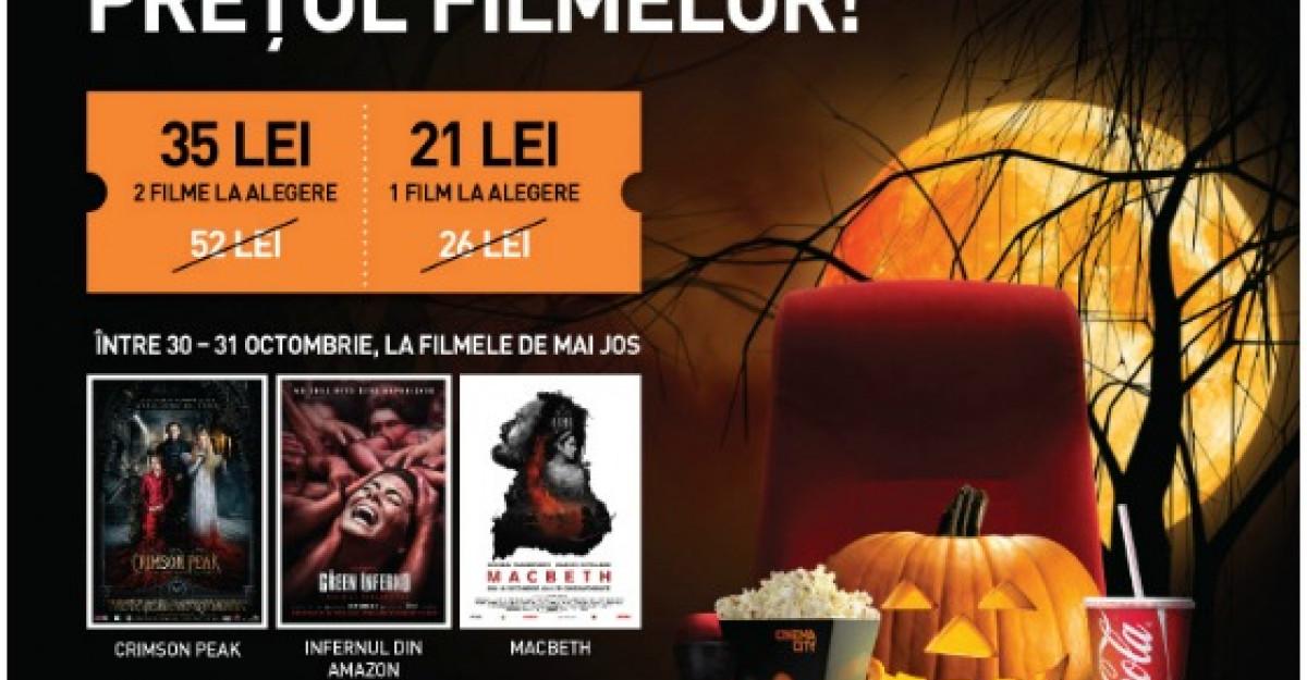 De Halloween, CINEMA CITY a bagat frica-n pretul filmelor!