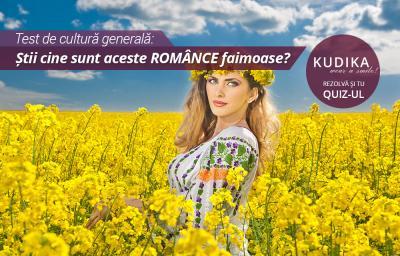 Test de cultura generala: Stii cine sunt aceste ROMANCE faimoase?