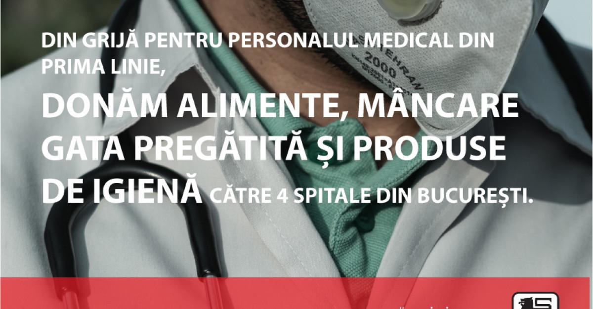 Mega Image asigură alimente și produse de igienă spitalelor din București aflate în prima linie în lupta cu COVID-19
