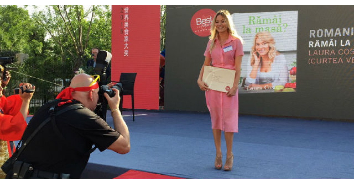 Laura Cosoi a adus in Romania premiul Gourmand!