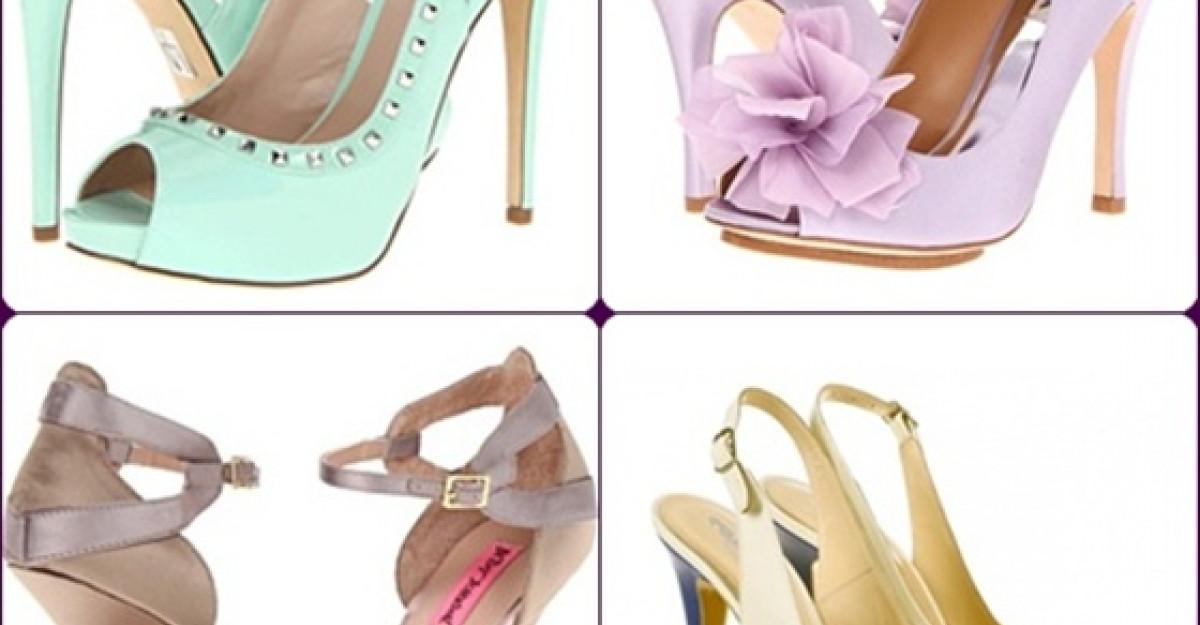 15 sandale de mireasa in nuante pastelate