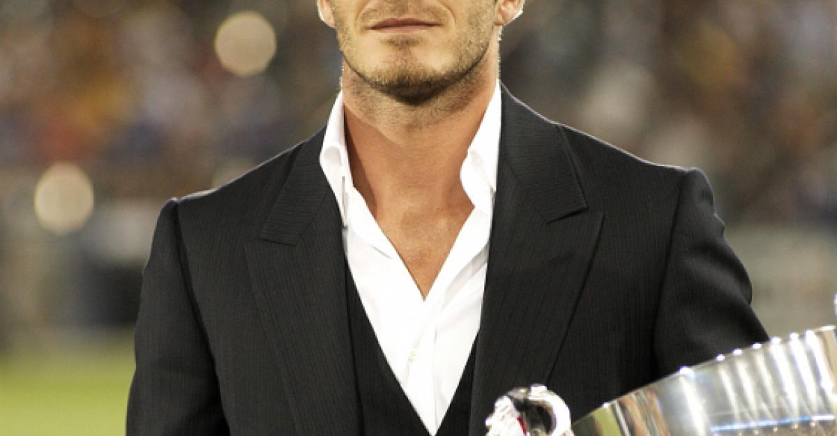 Bucuria femeilor: David Beckham, doar in CHILOTI