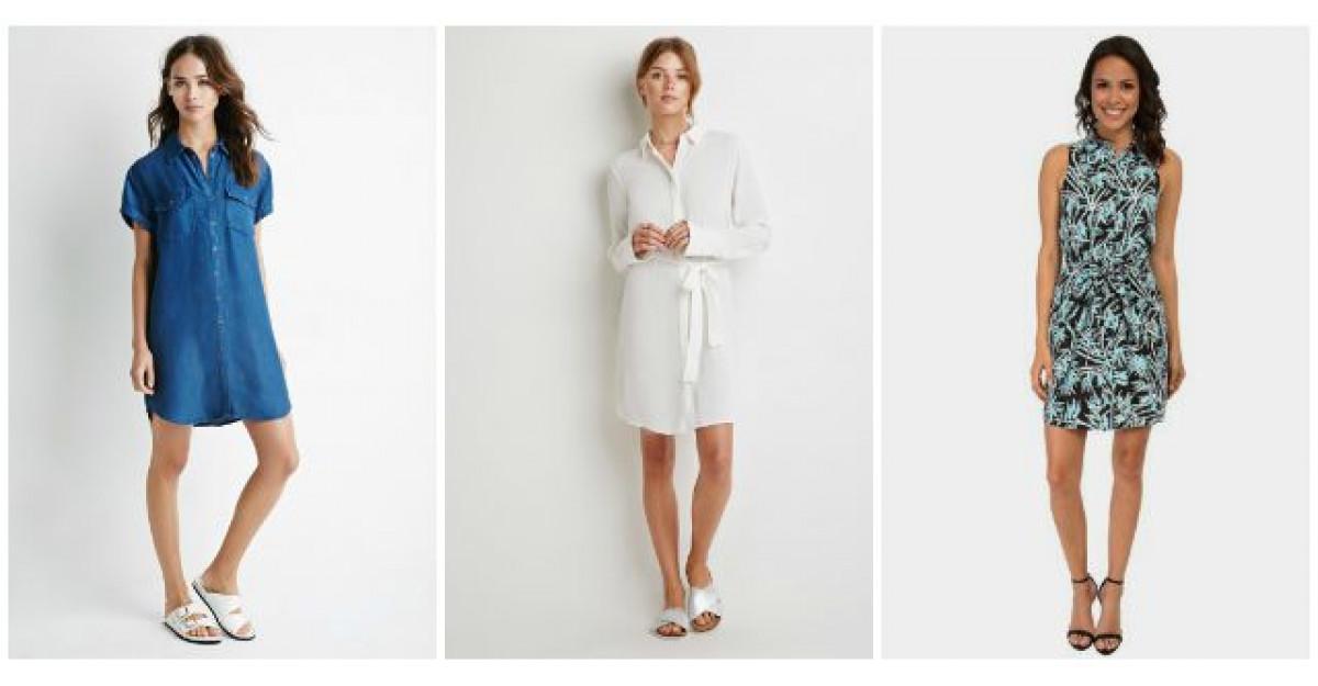Ideal pentru zilele caniculare: rochia tip camasa!