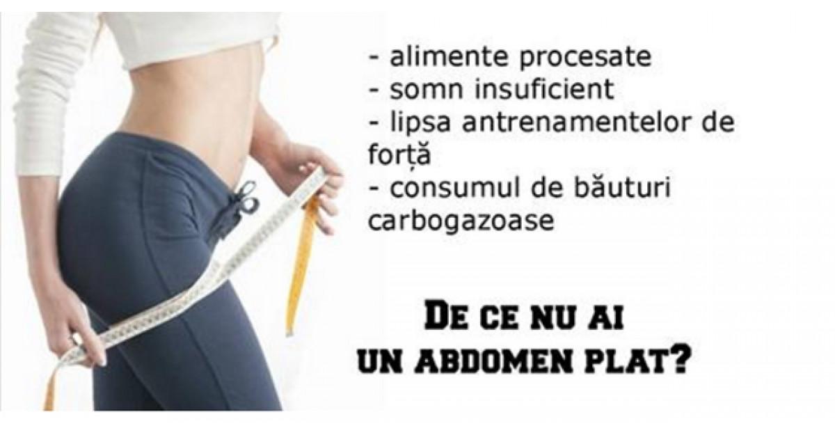 6 motive care te impiedica sa ai un abdomen plat