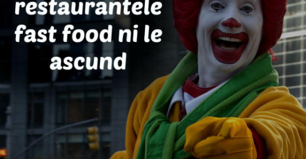 21 de lucruri pe care restaurantele fast food ni le ascund