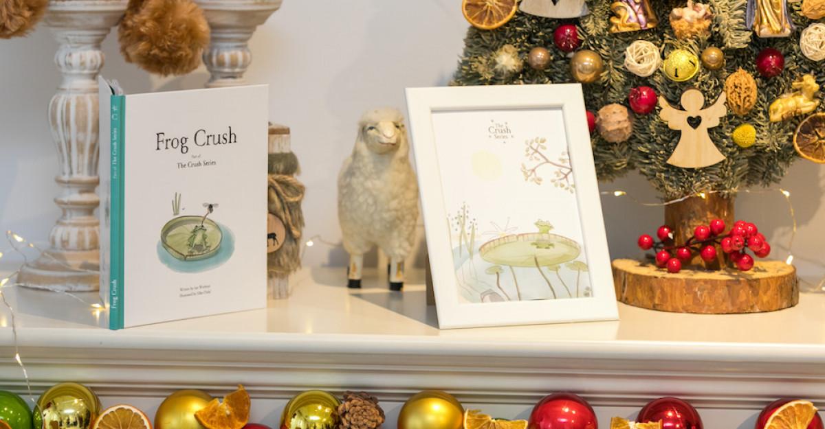 S-a lansat Frog Crush, prima carte din seria de cărți ilustrate pentru copii Crush