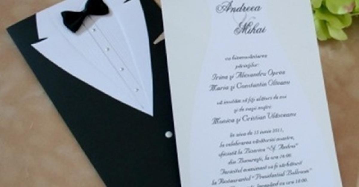 25 de invitatii de nunta personalizate