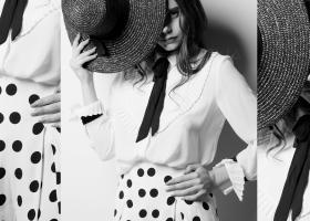 Cum porți fusta cu buline la birou și cum o asortezi elegant, feminin