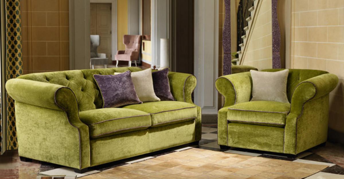 Piese de mobilier si accesorii in culoarea verde, pentru un decor fresh
