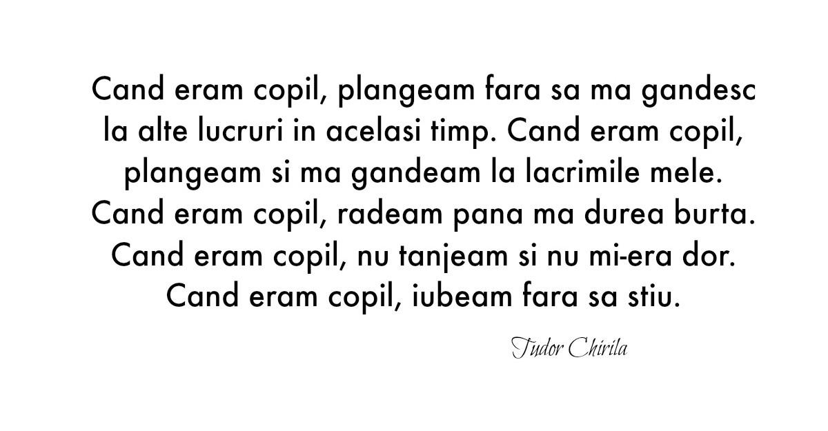 Alfabetul dragostei. Cele mai frumoase citate de iubire dupa Tudor Chirila