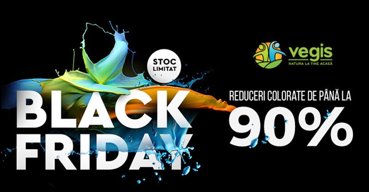 Reduceri pana la 90% de Black Friday la produse naturiste de pe Vegis.ro, pe 17 noiembrie
