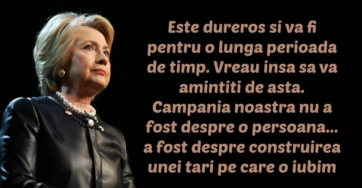 Hillary Clinton: Un discurs de tinut minte