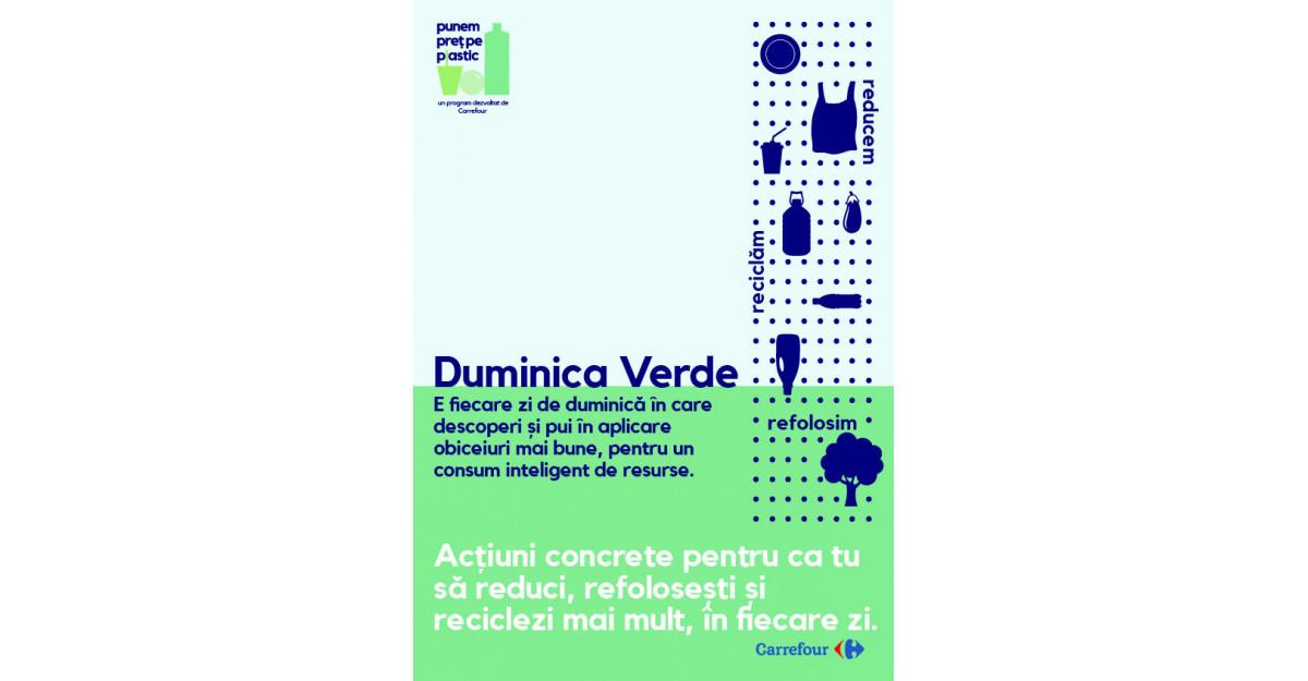 Carrefour România lansează DUMINICA VERDE – o zi pe săptămână dedicată obiceiurilor de consum responsabil