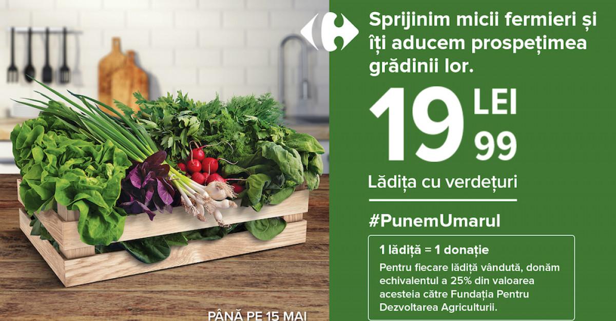 Carrefour lansează un produs sezonier cu legume proaspete, la un preț unic, pentru a susține micii producători agricoli