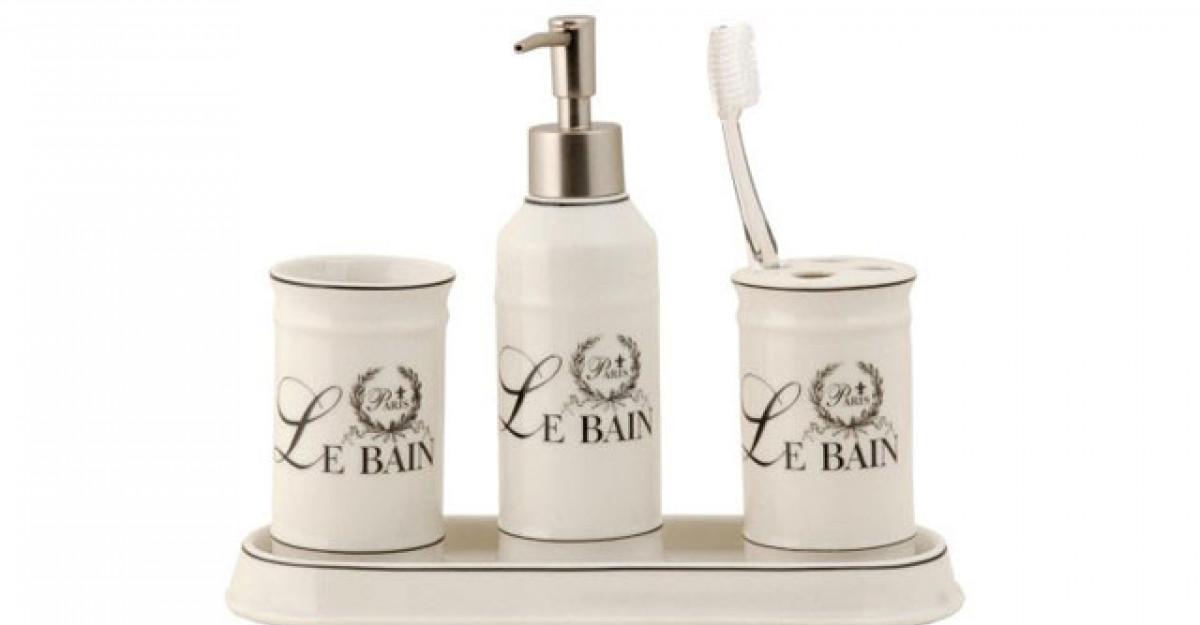 15 accesorii pentru baie, in stilul shabby chic