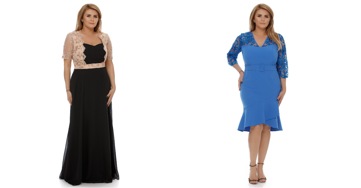 Haine mărimi mari: 5 modele de rochii elegante