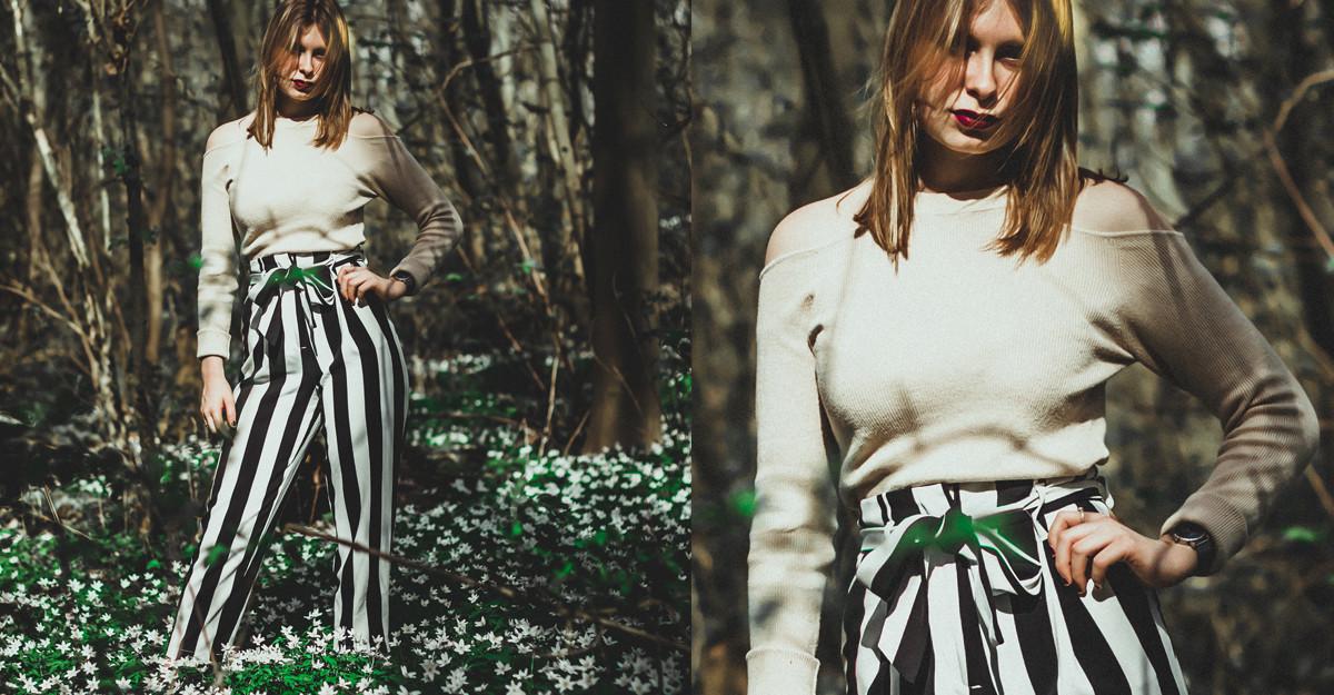 Pantaloni cu cordon în talie: simpli dar de efect pentru orice ținută