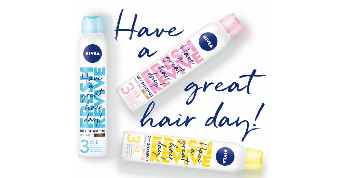 Bucură-te de un păr fresh în fiecare zi, cu noile șampoane uscate NIVEA Fresh Revive