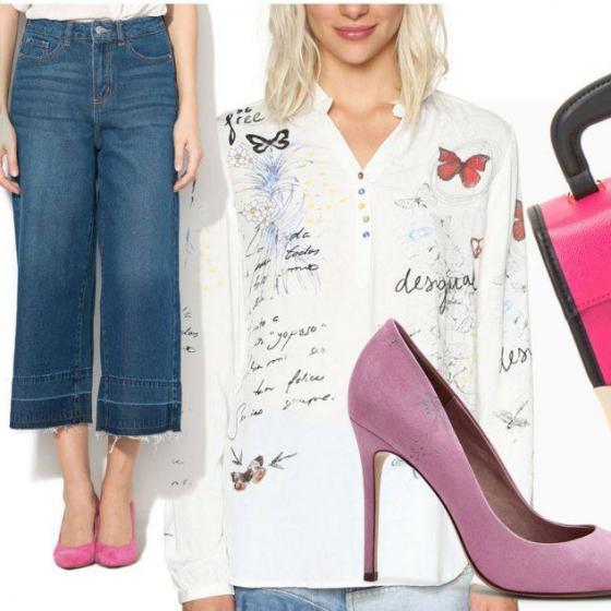 Cum să porți pantalonii culottes din denim ca o expertă
