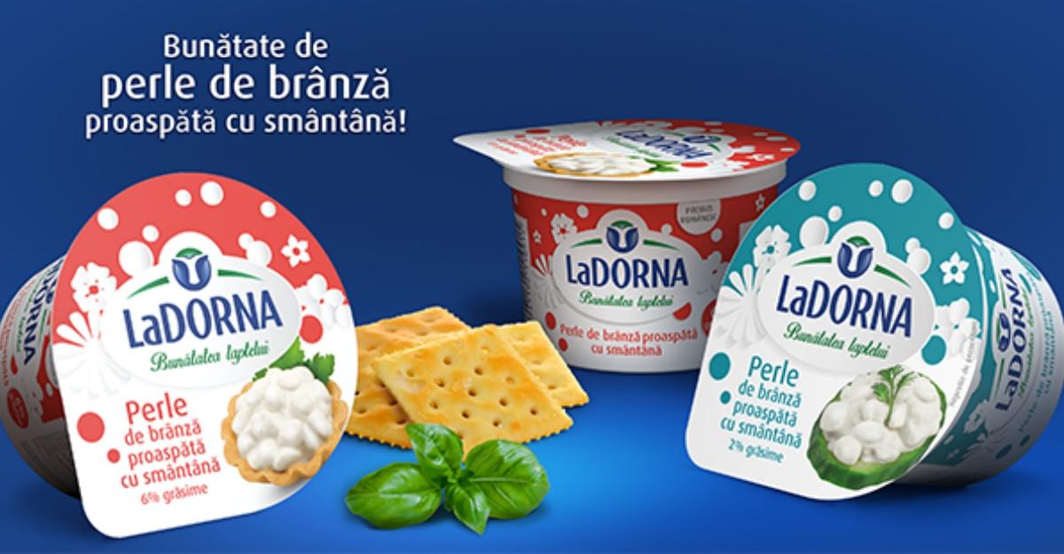 Redescoperă LaDORNA bunătatea perlelor mari de brânză proaspătă cu multă smântână – noul chic rafinat LaDORNA