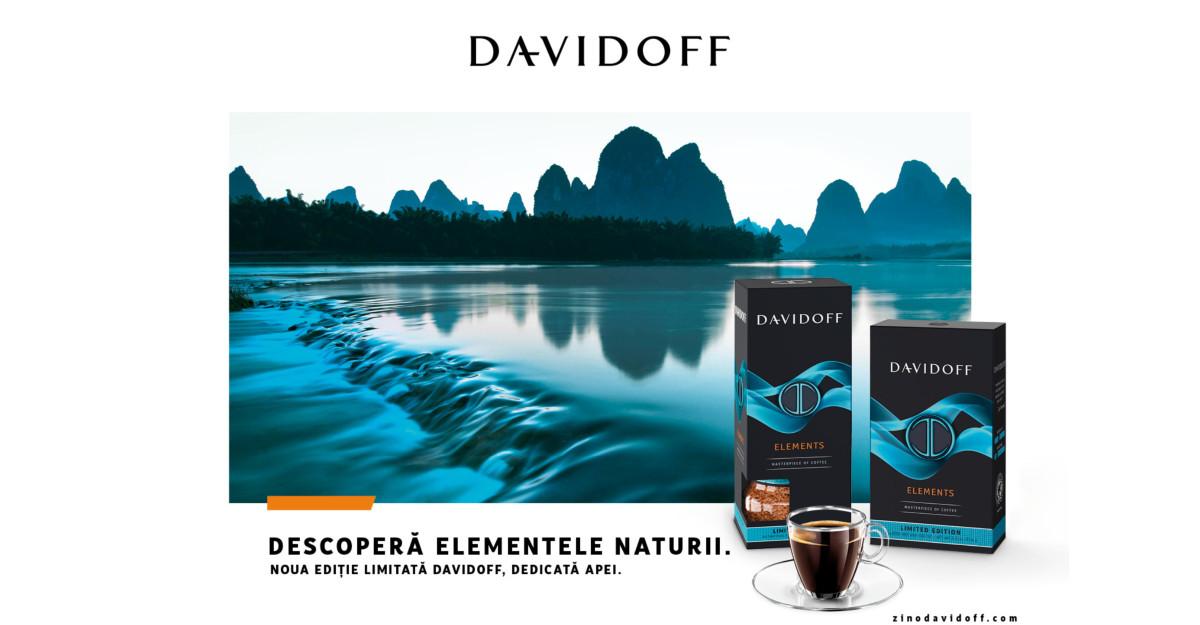 Descoperă elementele naturii Încearcă noua ediție limitată Davidoff Café dedicată apei