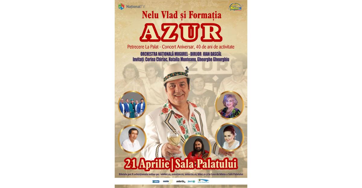 Corina Chiric, invitatul-special și amfitrionul Concertului AZUR – Petrecere la Palat