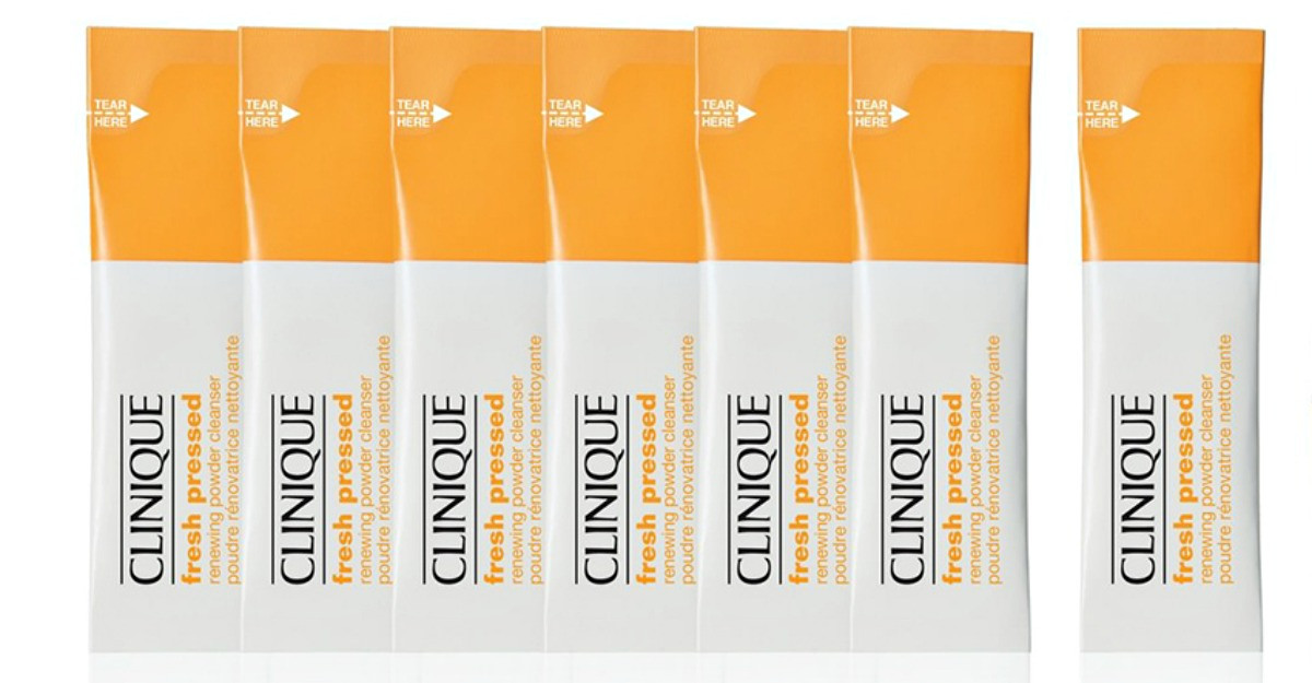 Solutia anti-aging Clinique Fresh Pressed Renewing Powder Cleanser cu Vitamina C pura