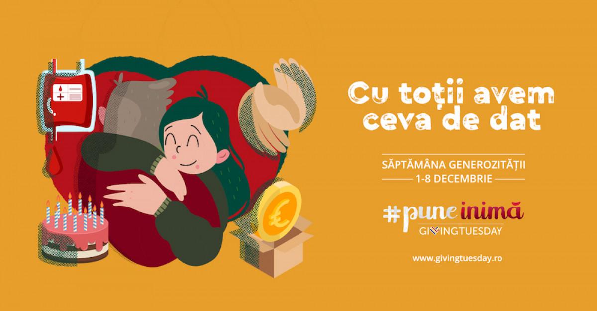 GivingTuesday România anunță Săptămâna Generozitățiiîn perioada 1-8 decembrie