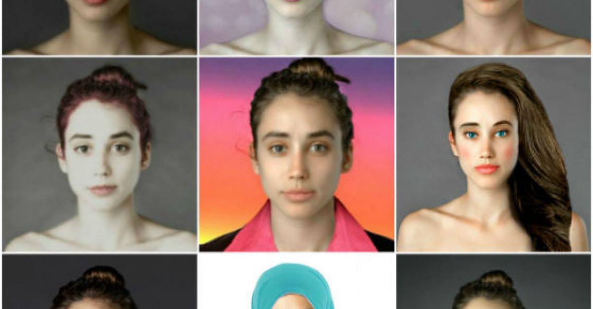 Galerie foto: Femeia modificata in Photoshop potrivit culturii fiecarei tari. Uite cum au modificat-o romanii