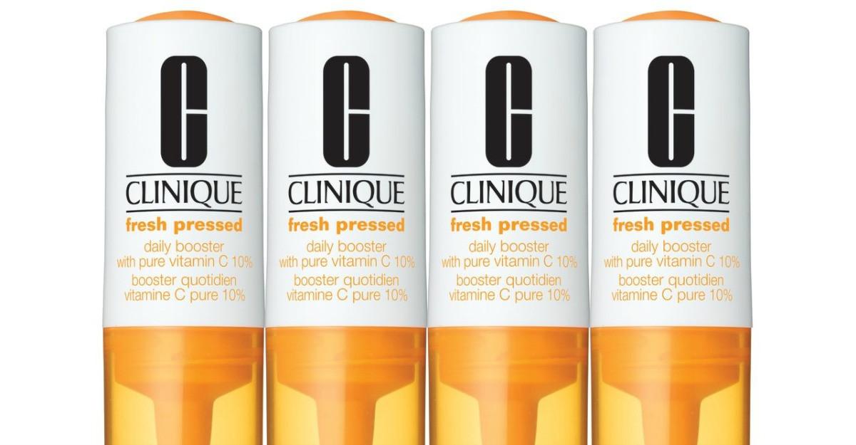 Descopera solutia anti-aging pentru cei nerabdatori: Clinique Fresh Pressed Booster Zilnic cu Vitamina C Pura 10%