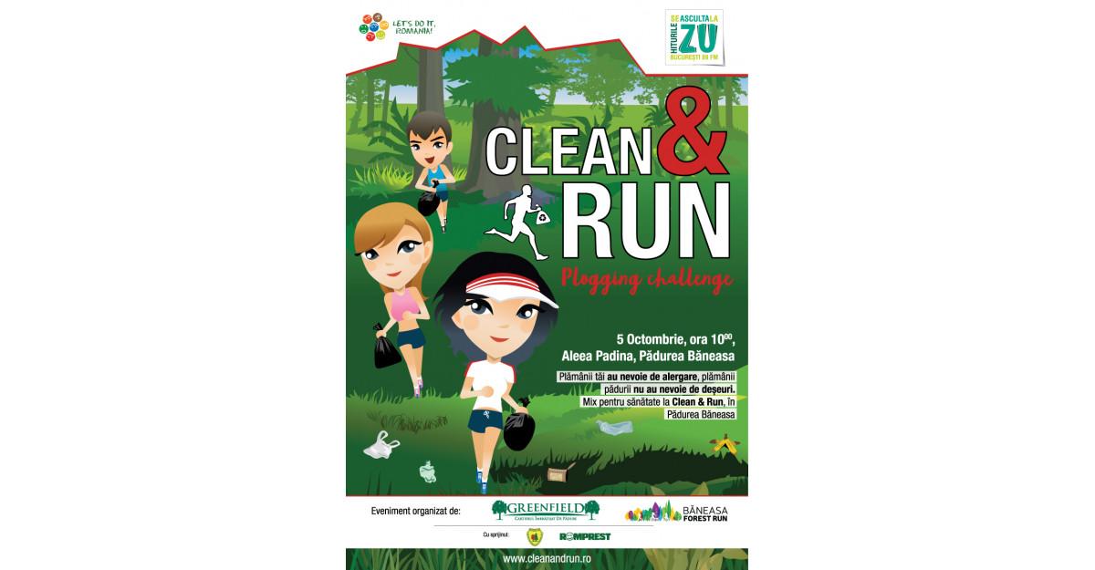 Clean and Run, cea mai mare campanie de plogging din România are loc în Pădurea Băneasa