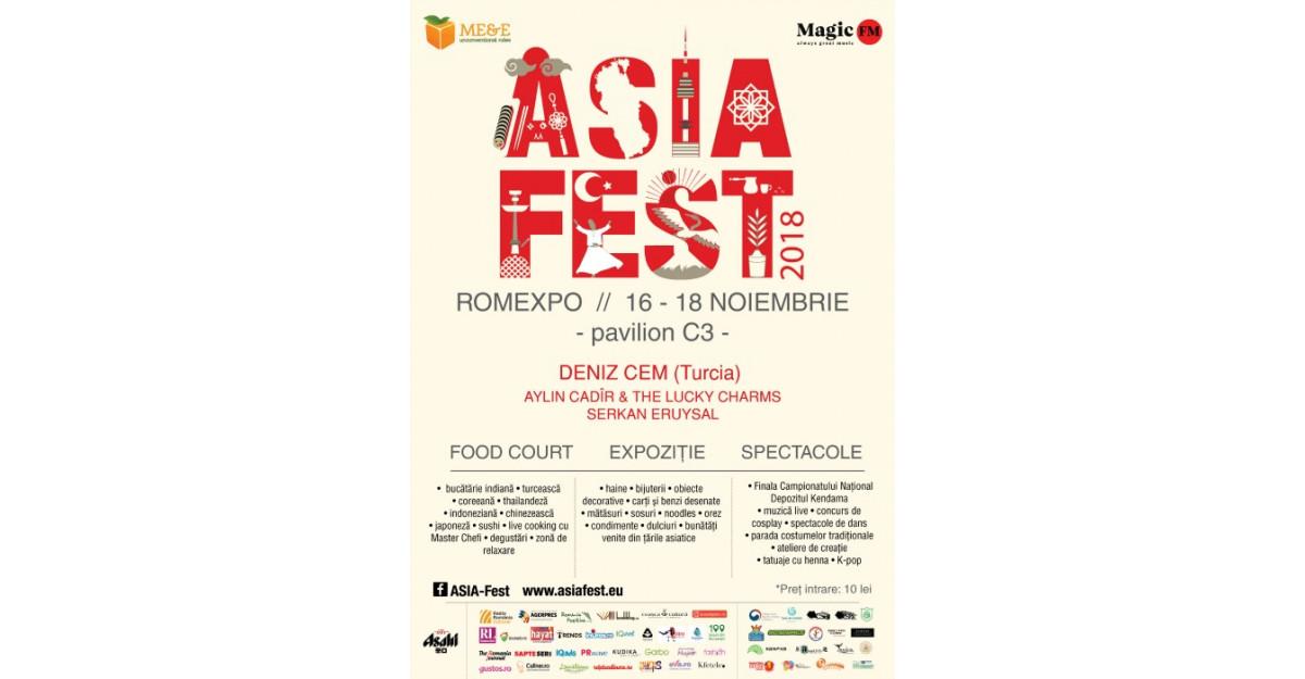A sasea editie Asia Fest, intre 16 – 18 noiembrie, la Romexpo